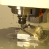 Engine mount housing being cut on our CNC machine