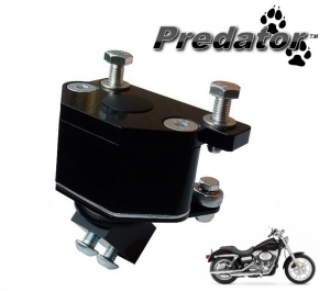 "Introducing the new ""Predator"" front engine mount for the Harley Davidson Dyna Glide"